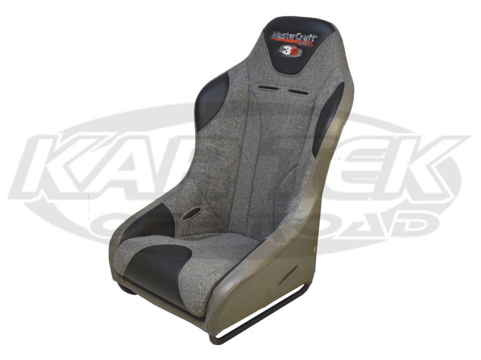 MasterCraft Safety 3G Series Grey Seat 2 Inch Extra Wide Flat Mount With Removable Bottom Cushion