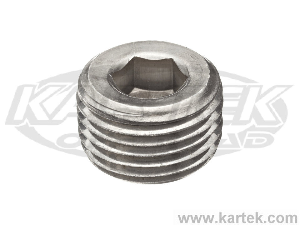 "3/8"" NPT National Pipe Tapered Thread Steel Allen Plugs"