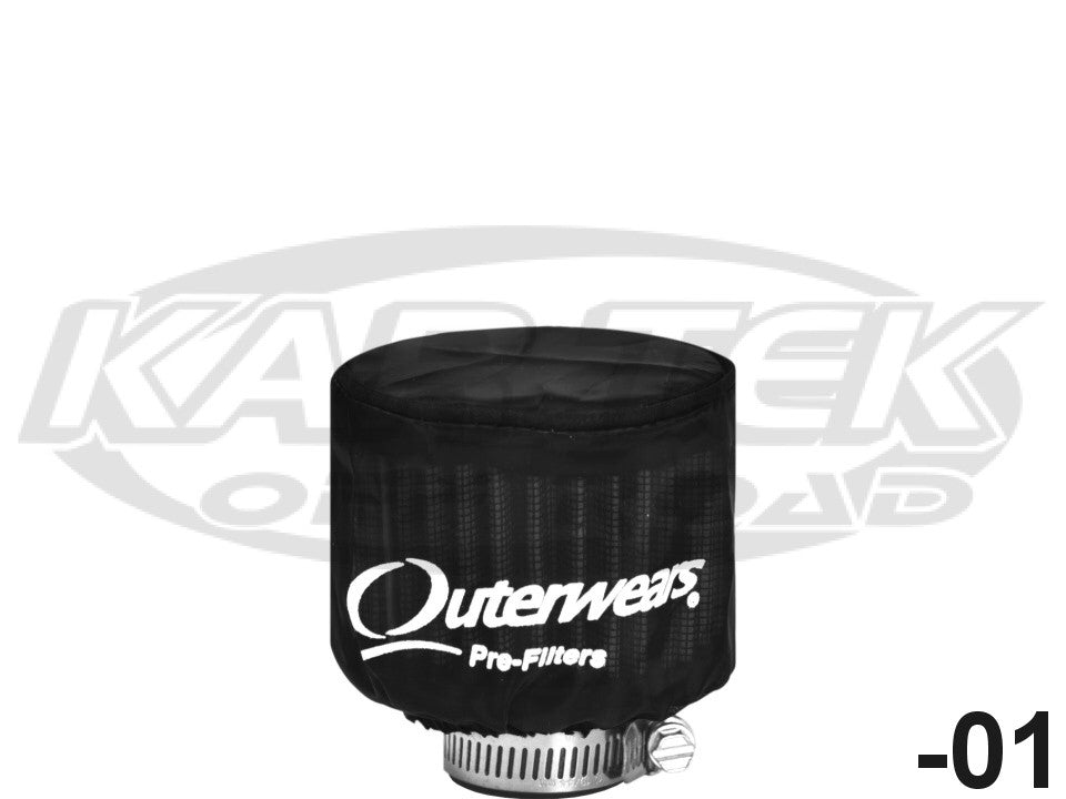 "Black Outerwear Prefilter With Top Round 3/"" Diameter 10-1100-01"