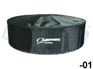"Outerwears Round Cylindrical Pre-Filter Cover 14"" Diameter 5"" Tall With The Top"