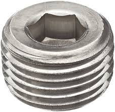"1/8"" NPT National Pipe Tapered Thread Steel Allen Plugs"
