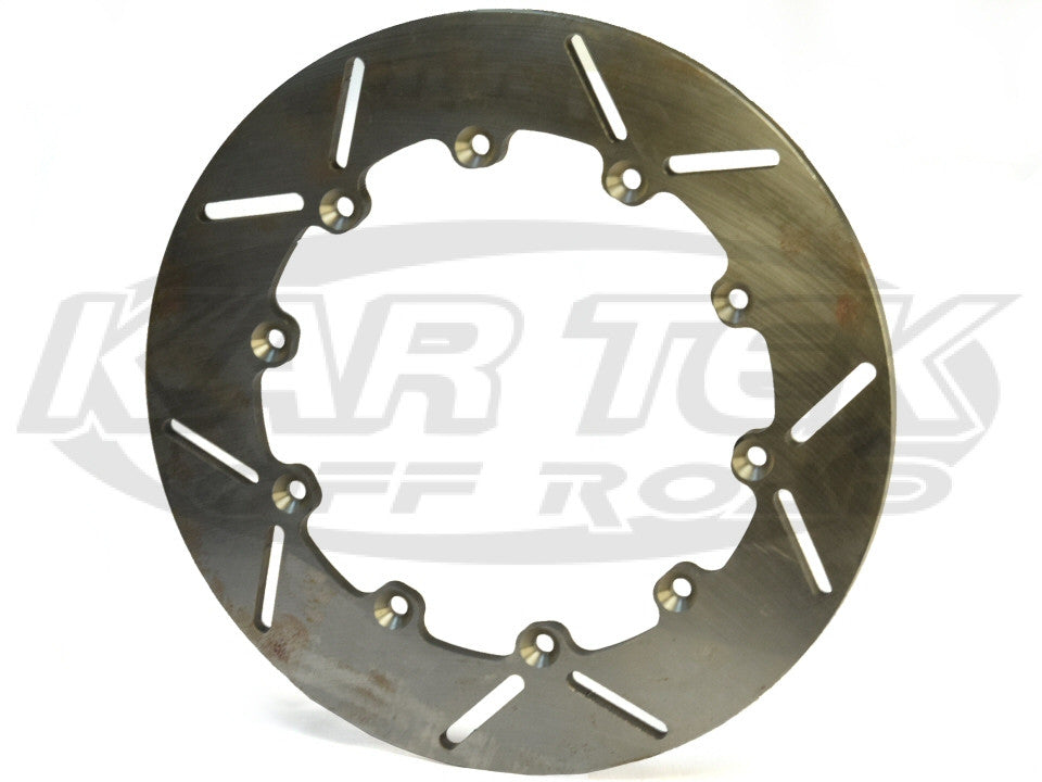"12"" Diameter Slotted Steel Rotor 10 Bolt 8"" Pattern 0.40"" Thickness Right Side"