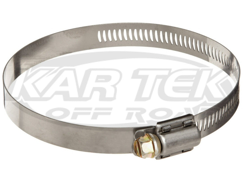 Stainless Steel SAE Size 56 Worm Gear Hose Clamp 3.06 Minimum Diameter 4.00 Maximum Diameter