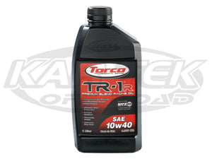Torco SAE 10w40 TR-1R Premium Blend Racing Engine Oil 1 Liter Bottle