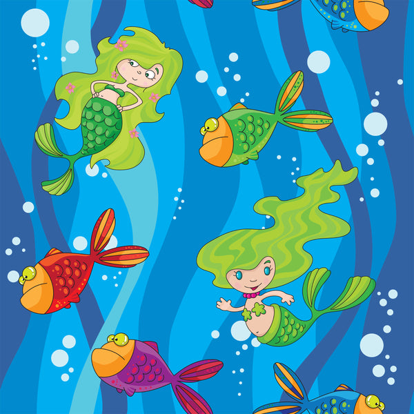Children's Fabric, Mermaid Fabric, cotton or Fleece 668 - Beautiful Quilt