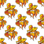 Fish Fabric, Custom Print Fabric, Fancy Goldfish Fabric 5596 - Beautiful Quilt