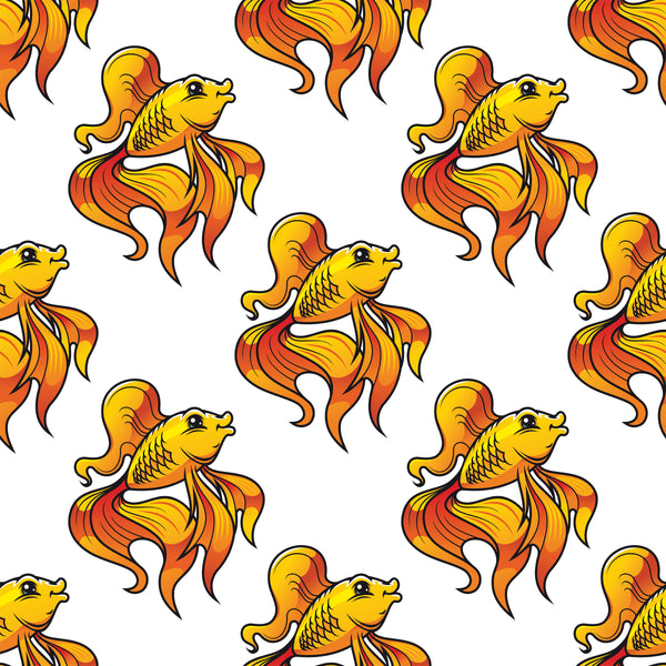 Fish Fabric Fancy Goldfish Fabric