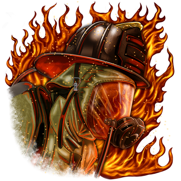 Fire Fighter Fabric Firefighter in Helmet 5770