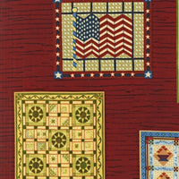 Robert Kaufman Fabric Yesteryear quilts red 2141