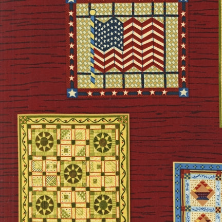 Quilts on a barn fabric quilts red 2141 - Beautiful Quilt