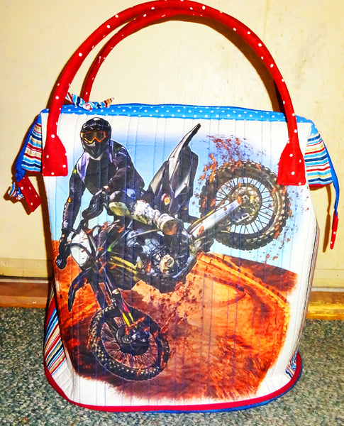 MotorCross Bag by Sylvia Bryan-Not for Sale-3776 - Beautiful Quilt