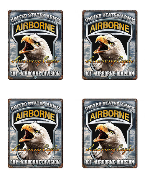 Military Fabric, Army Fabric 101st Airbone Division Screaming Eagles, Yardage, Cotton or Fleece 1450