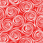 Blender Fabric, That Ends Wool, Red with White Swirls 5856 - Beautiful Quilt