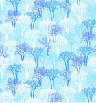 Christmas Fabric Snowy Christmas Trees Landscape Fabric 5657