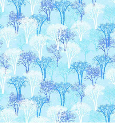 Christmas Fabric, Snowy Christmas, Trees Landscape Fabric 5657 - Beautiful Quilt