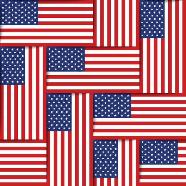 Patriotic Fabric, Custom Print Fabric, American Flag 7145