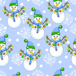 Christmas Fabric, Novelty Snowman Fabric 1297