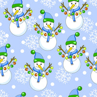 Christmas Fabric, Novelty Snowman Fabric 1297 - Beautiful Quilt