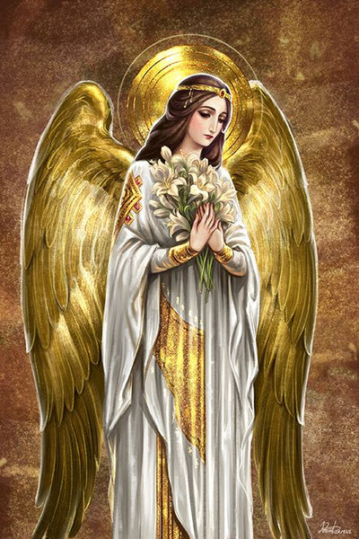 Angel Fabric, Golden Angel Fabric Panel 1854 - Beautiful Quilt