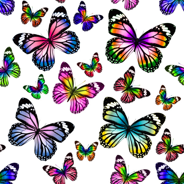 Bug Fabric, Butterfly Fabric in wild colors, on Cotton or Fleece 1585 - Beautiful Quilt