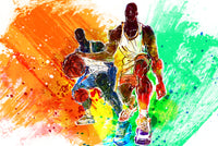 Basketball Fabric, Dribble, Fabric Panel 1653 - Beautiful Quilt