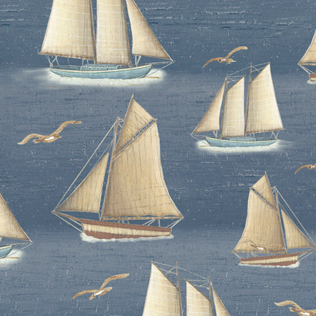 Lighthouse Fabric QT Seaside Sail Boats 5024 - Beautiful Quilt