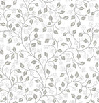Neutral QT Illusions flower white fabric 3492