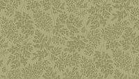 Blender Fabric Makower Sherwood leaves sage green 4270 - Beautiful Quilt
