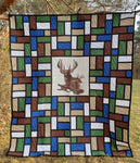 Deer Quilt in the woods-Not for Sale-3778