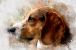 Dog Fabric, Beagle Fabric Panel of the Head, 2077 - Beautiful Quilt