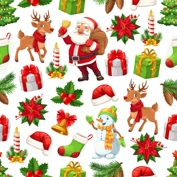 Christmas Fabric, All Good Things for Christmas, Cotton or Fleece 2044 - Beautiful Quilt