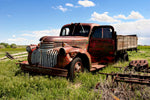 Truck Fabric Broken Down Old Rusted Truck 5833