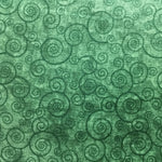 Blender Fabric QT Harmony Swirls Green 4937 - Beautiful Quilt