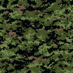 Military Fabric, Custom Print Fabric, Camouflage Digital Fabric Green 5704 - Beautiful Quilt