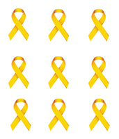 Cancer Fabric, Bladder Cancer Fabric, Custom Print Fabric, Yellow Ribbons 5632 - Beautiful Quilt
