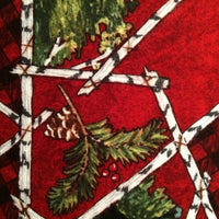 Christmas Fabric, Rustic Retreat, FLANNEL Trees 5090 - Beautiful Quilt