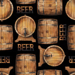 Booze Fabric, Beer Barrel Fabric, Cotton or Fleece, 3628 - Beautiful Quilt