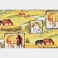 Horse Fabric Riverwoods Collection Running  3271