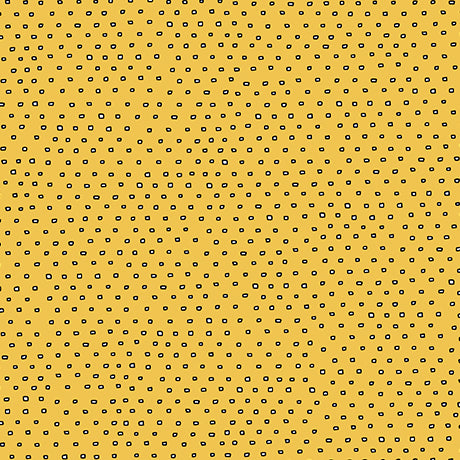 Blender Fabric Ink & Arrow Pixie Square Dot Gold 4915 - Beautiful Quilt