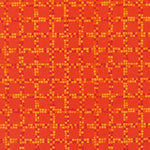 Blender Fabric RK Color Union Squares Orange 4622 - Beautiful Quilt