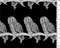Bird Fabric, Gothic Glam, Owl Fabric 4071 - Beautiful Quilt
