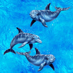 Ocean Fabric, Dolphin Fabric, Yardage, Cotton or Fleece 1190 - Beautiful Quilt
