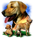 Dog Fabric, Blond Labrador Retriever Custom Panel 5471