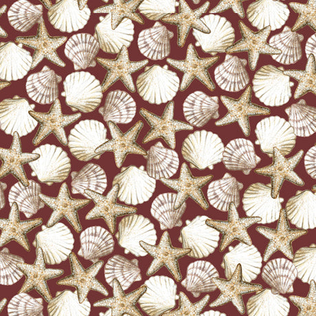 Seashell Fabric QT Seaside Starfish Fabric 5025