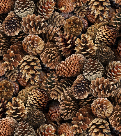 Pine Cone Fabric ES Landscape Medley 5342 - Beautiful Quilt