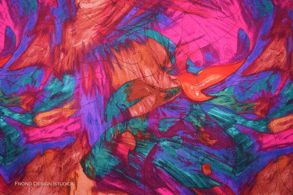 Blender Fabric Frond Celebrate Color Splash Warmth 5175 - Beautiful Quilt