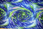Abstract Swirl Fabric Frond Discovery Tree Out Blue 4415