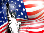 Patriotic Fabric Statue of Liberty with Flag 5749