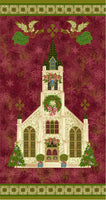 Christmas Fabric, Silent Night, Cathedral Panel 5079 - Beautiful Quilt