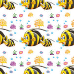 Childrens Fabric, Custom Print Fabric, Whimsical Fish, cotton or fleece 5595 - Beautiful Quilt
